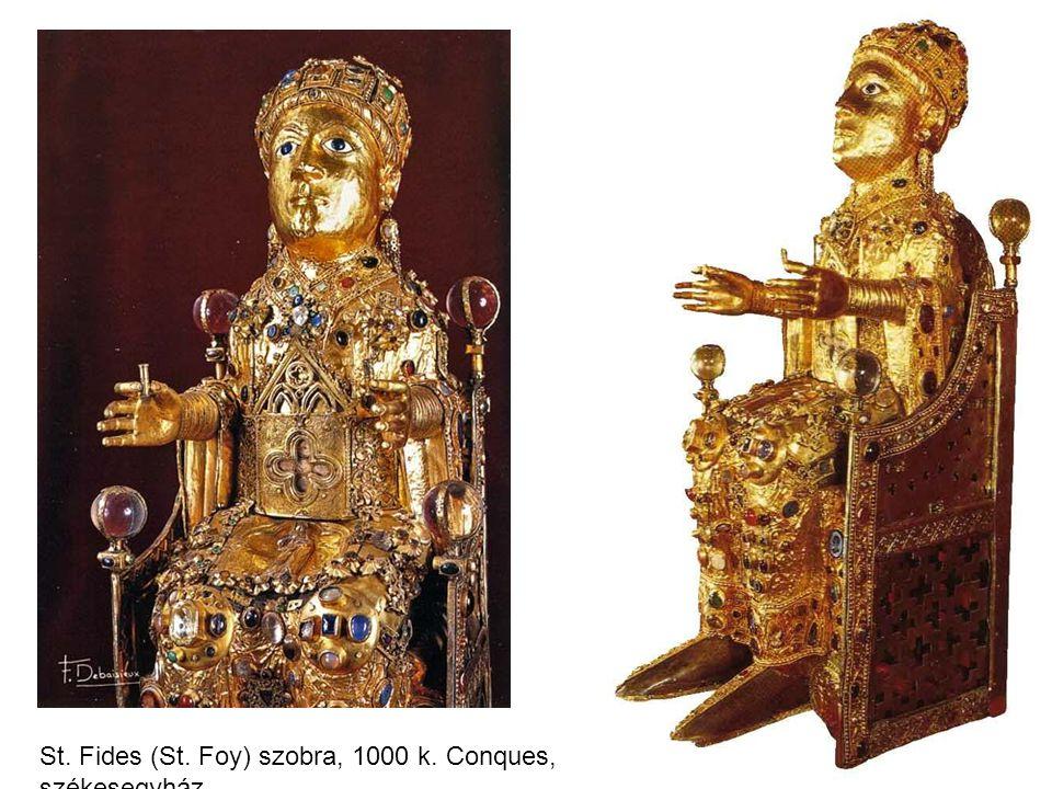 St. Fides (St. Foy) szobra, 1000 k. Conques, székesegyház