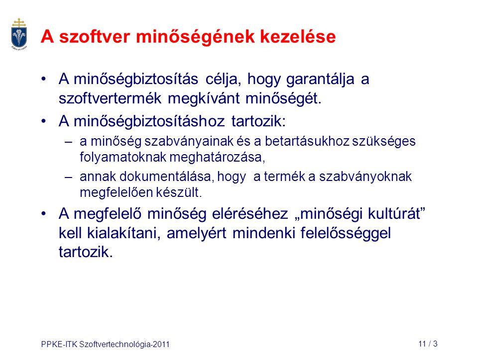 PPKE-ITK Szoftvertechnológia-201111 / 14 1.