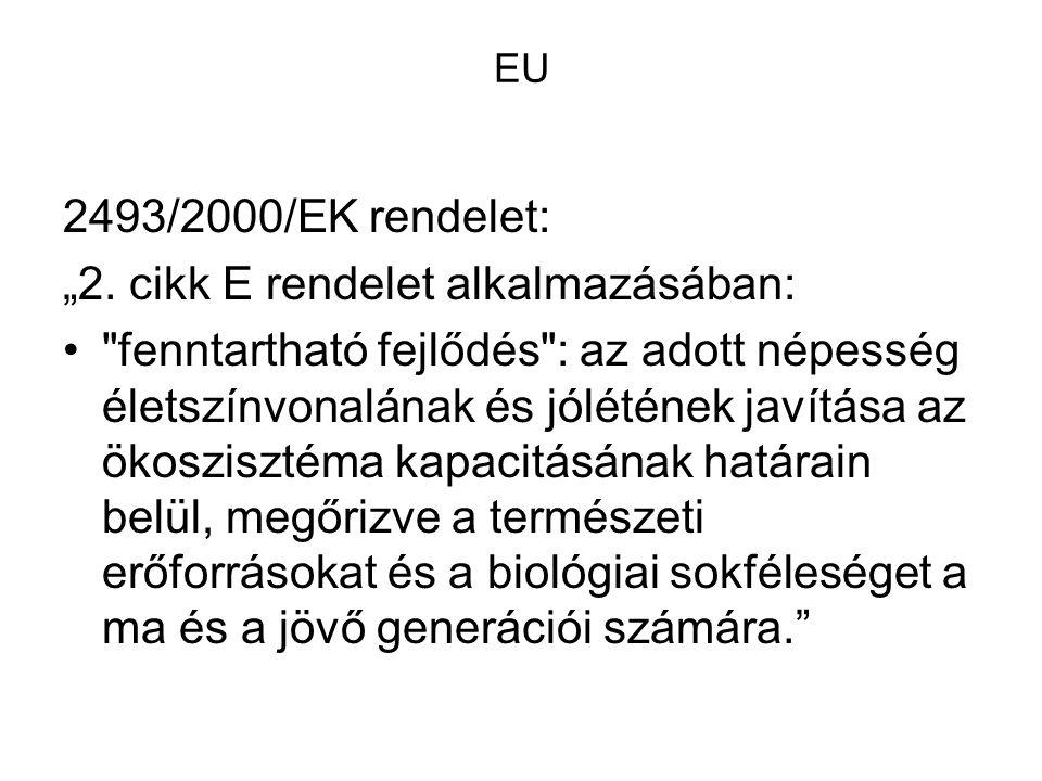 """EU 2493/2000/EK rendelet: """"2. cikk E rendelet alkalmazásában:"""