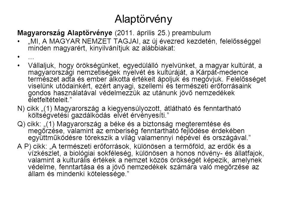 """Alaptörvény Magyarország Alaptörvénye (2011. április 25.) preambulum """"MI, A MAGYAR NEMZET TAGJAI, az új évezred kezdetén, felelősséggel minden magyaré"""