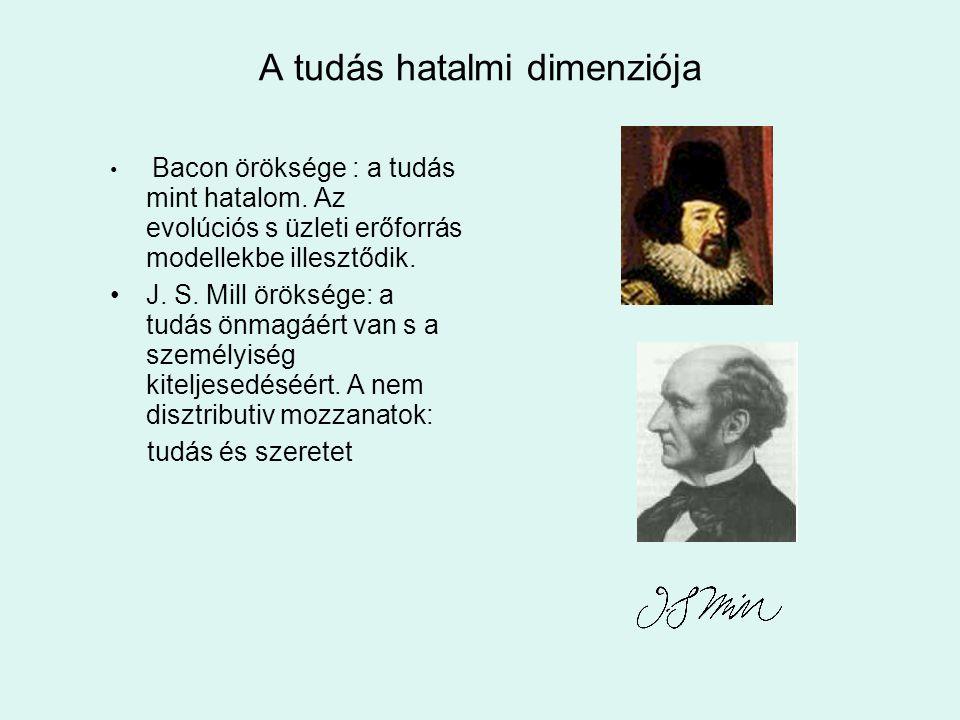 A tudás hatalmi dimenziója Bacon öröksége : a tudás mint hatalom.