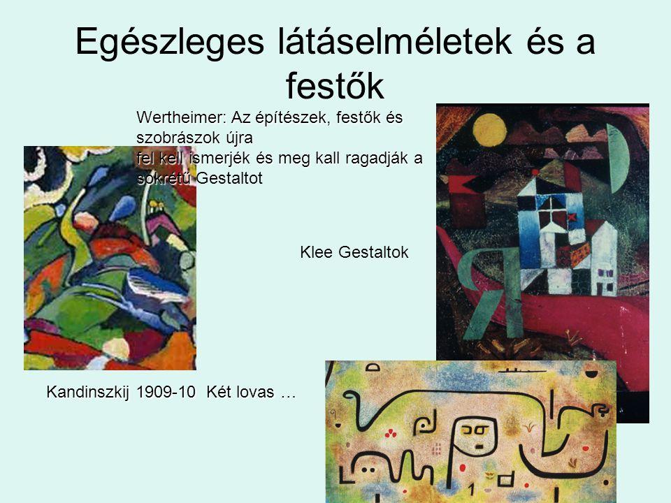 Egészleges látáselméletek és a festők Kandinszkij 1909-10 Két lovas … Wertheimer: Az építészek, festők és szobrászok újra fel kell ismerjék és meg kal