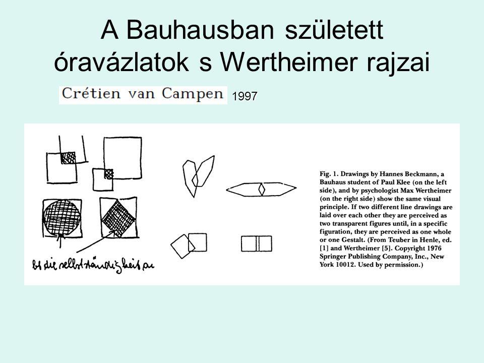 A Bauhausban született óravázlatok s Wertheimer rajzai 1997