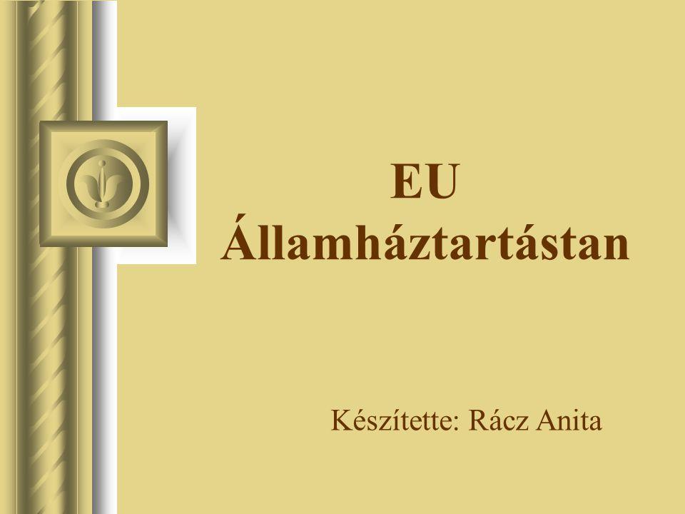 EU Államháztartástan Készítette: Rácz Anita
