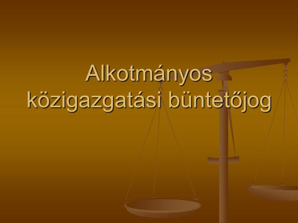 Alkotmányos közigazgatási büntetőjog