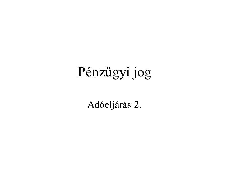 2 A hatósági eljárás(ok) 1.