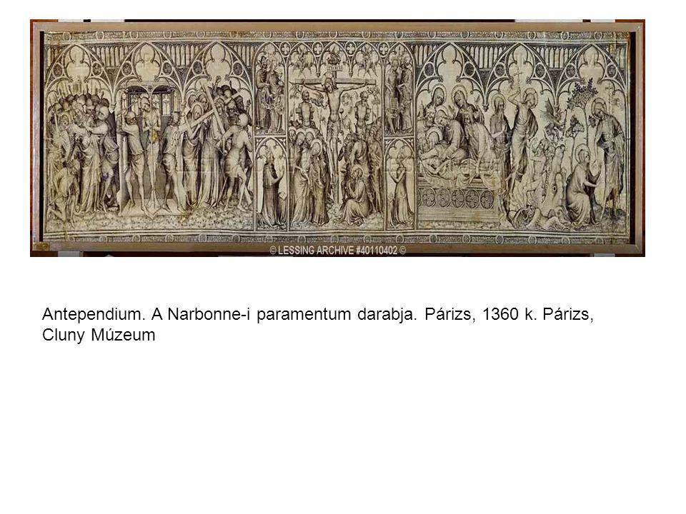 Antependium. A Narbonne-i paramentum darabja. Párizs, 1360 k. Párizs, Cluny Múzeum