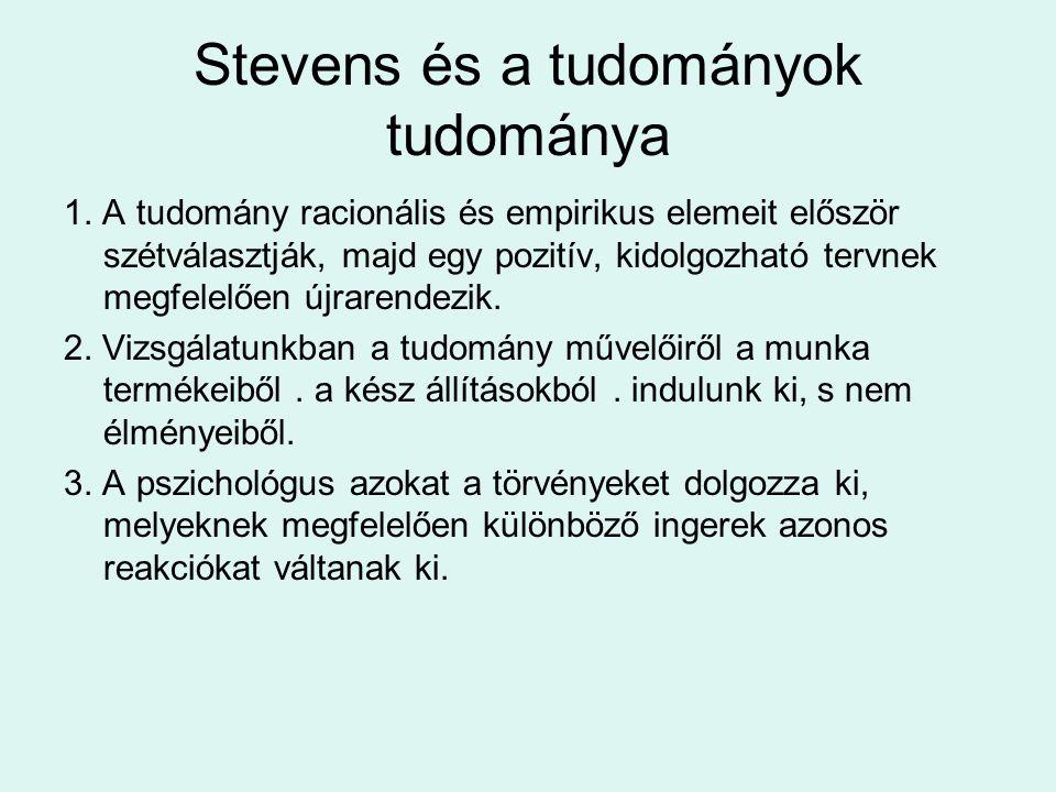 Stevens és a tudományok tudománya 1.