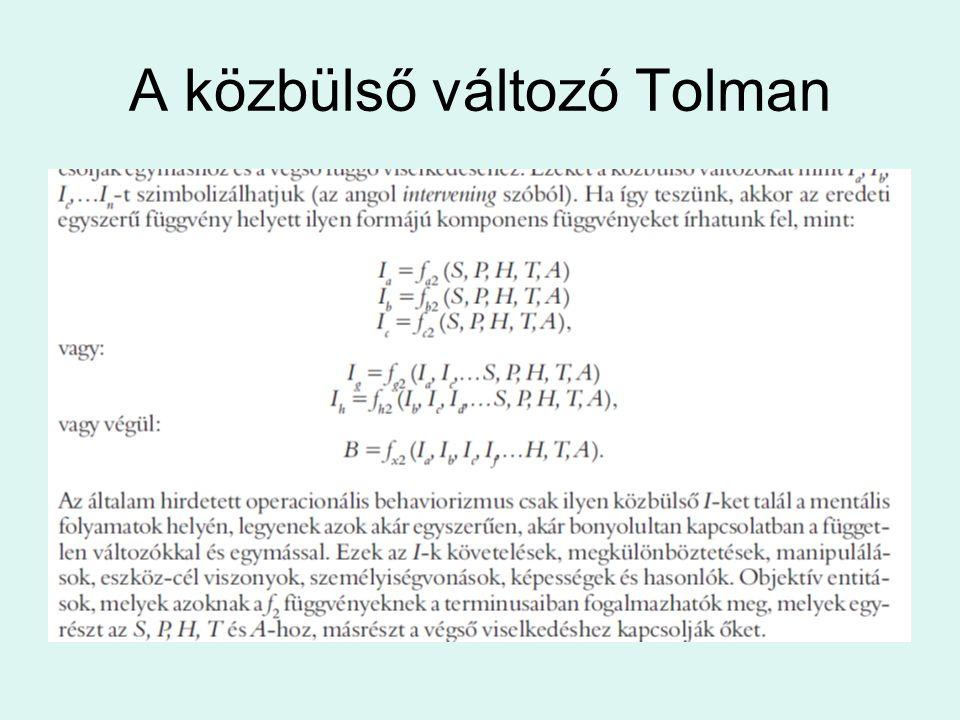 A közbülső változó Tolman