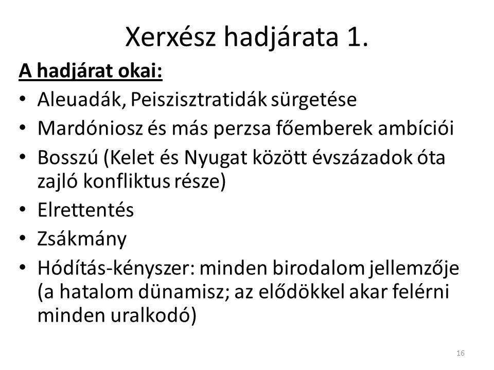 16 Xerxész hadjárata 1.