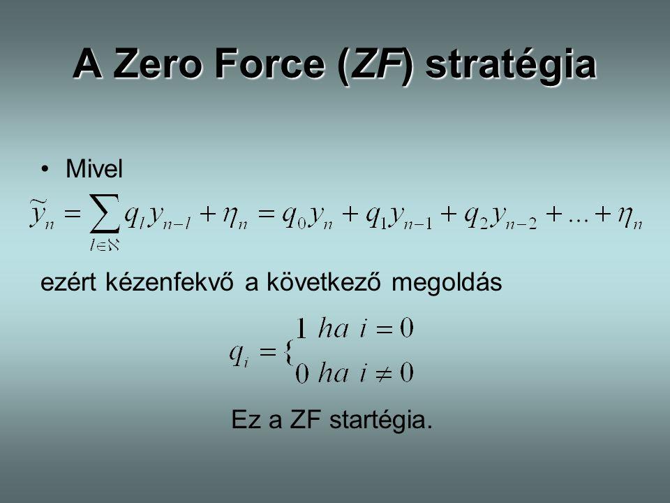 A Zero Force (ZF) stratégia Mivel ezért kézenfekvő a következő megoldás Ez a ZF startégia.