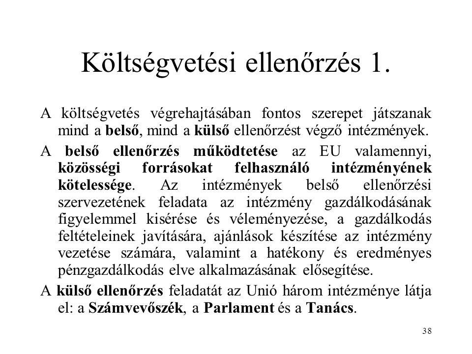 38 Költségvetési ellenőrzés 1.