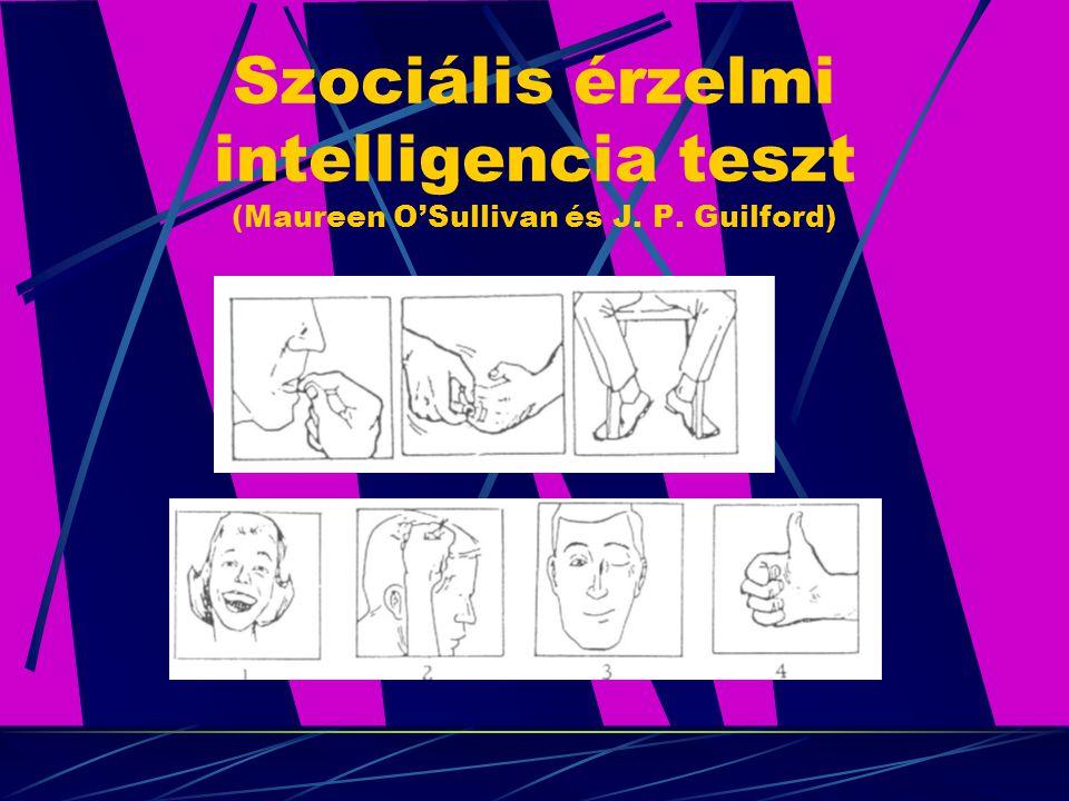 Szociális érzelmi intelligencia teszt (Maureen O'Sullivan és J. P. Guilford)
