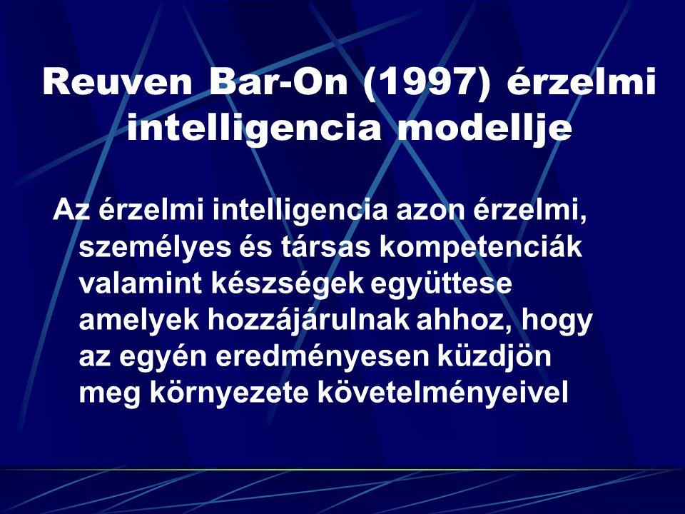Reuven Bar-On (1997) érzelmi intelligencia modellje Az érzelmi intelligencia azon érzelmi, személyes és társas kompetenciák valamint készségek együtte