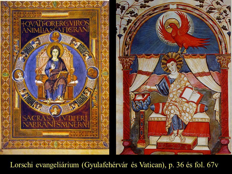 Lorschi evangeliárium (Gyulafehérvár és Vatican), p. 36 és fol. 67v