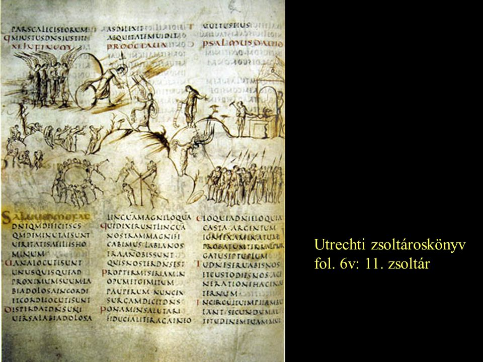 Utrechti zsoltároskönyv fol. 6v: 11. zsoltár