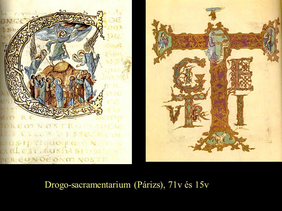 Drogo-sacramentarium (Párizs), 71v és 15v