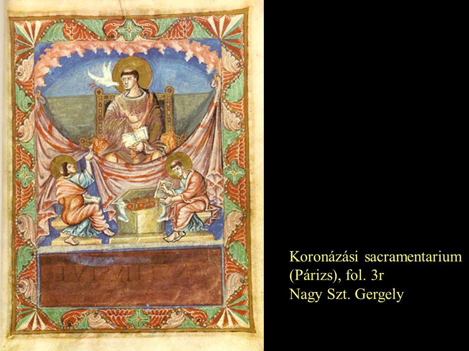 Koronázási sacramentarium (Párizs), fol. 3r Nagy Szt. Gergely