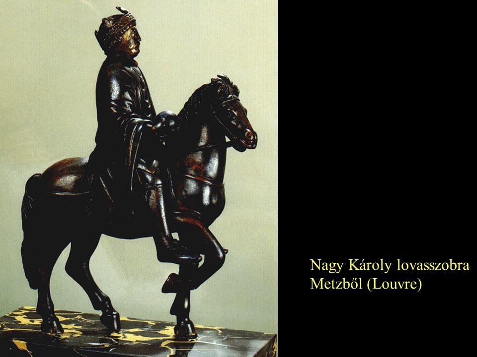 Nagy Károly lovasszobra Metzből (Louvre)