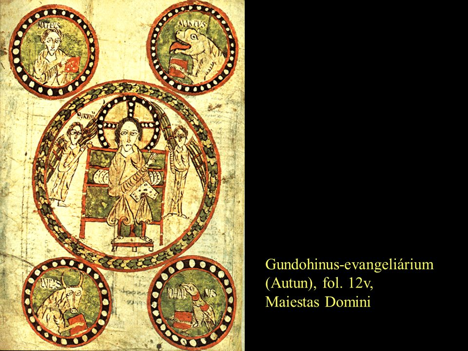 Gundohinus-evangeliárium (Autun), fol. 12v, Maiestas Domini