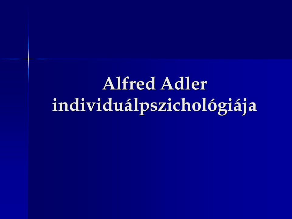 Alfred Adler individuálpszichológiája