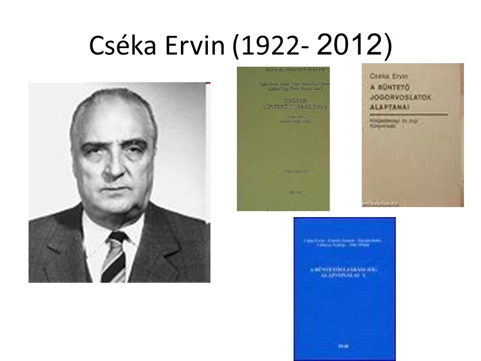 Cséka Ervin (1922- 2012)