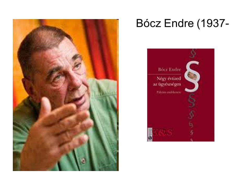 Bócz Endre (1937-