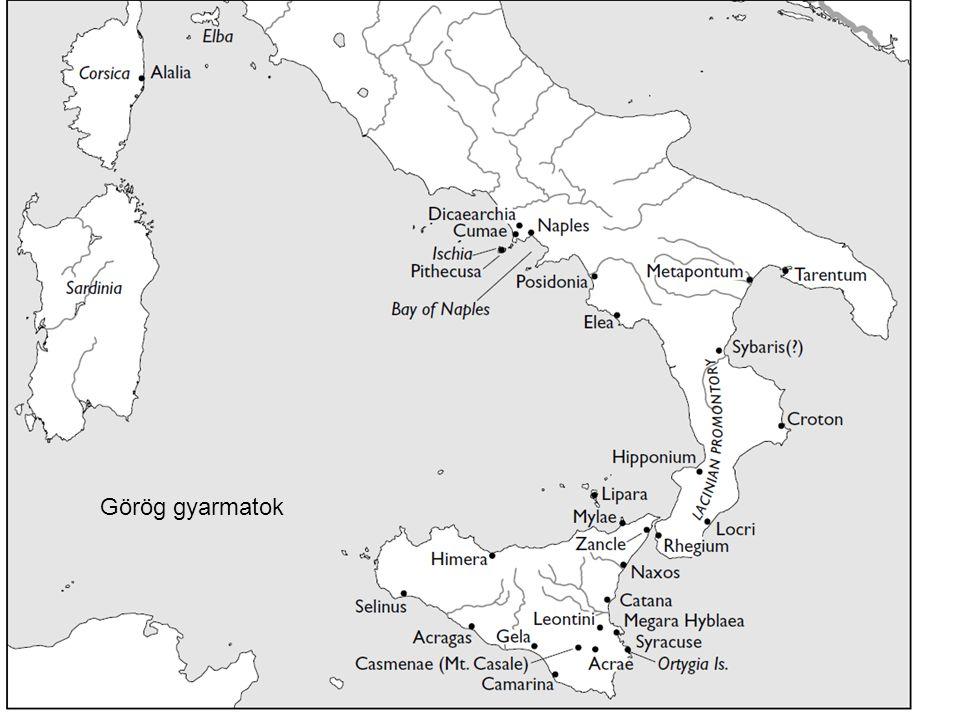 12 Görög gyarmatok