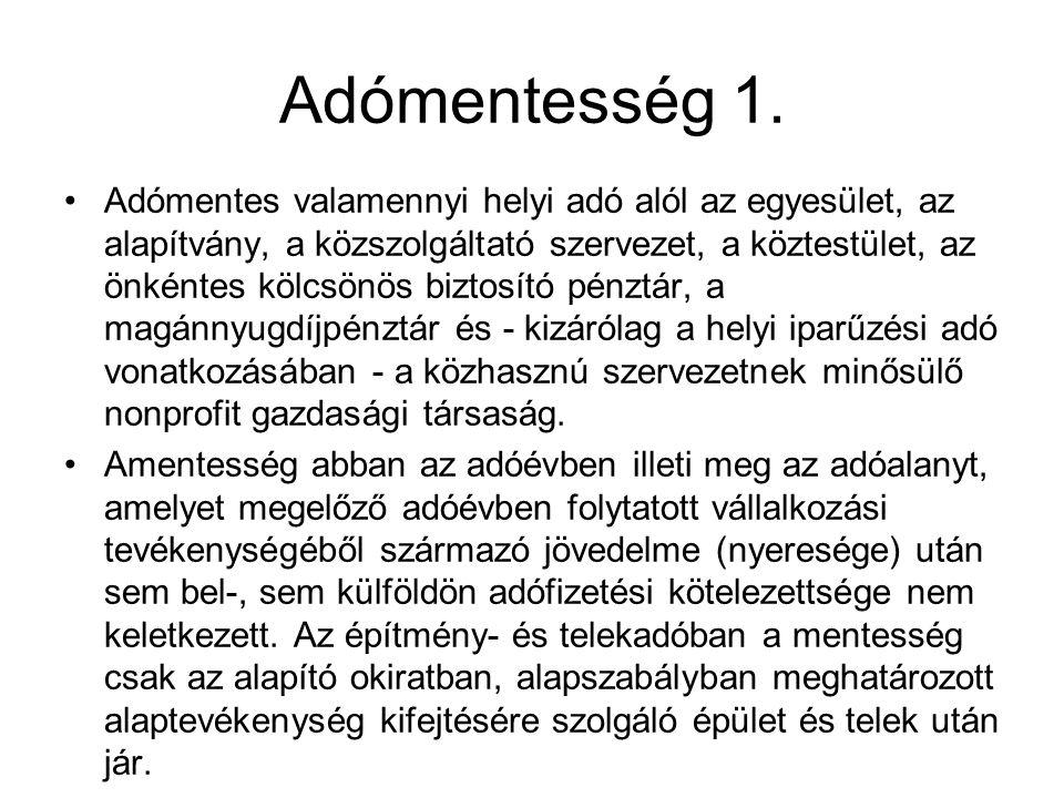 Adómentesség 2.
