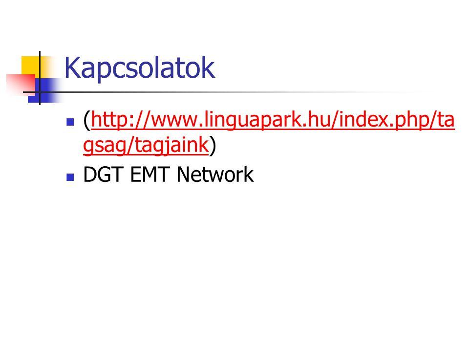 Kapcsolatok (http://www.linguapark.hu/index.php/ta gsag/tagjaink)http://www.linguapark.hu/index.php/ta gsag/tagjaink DGT EMT Network
