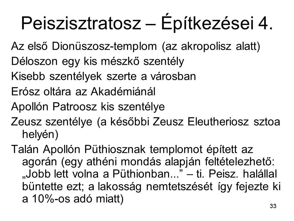 33 Peiszisztratosz – Építkezései 4.