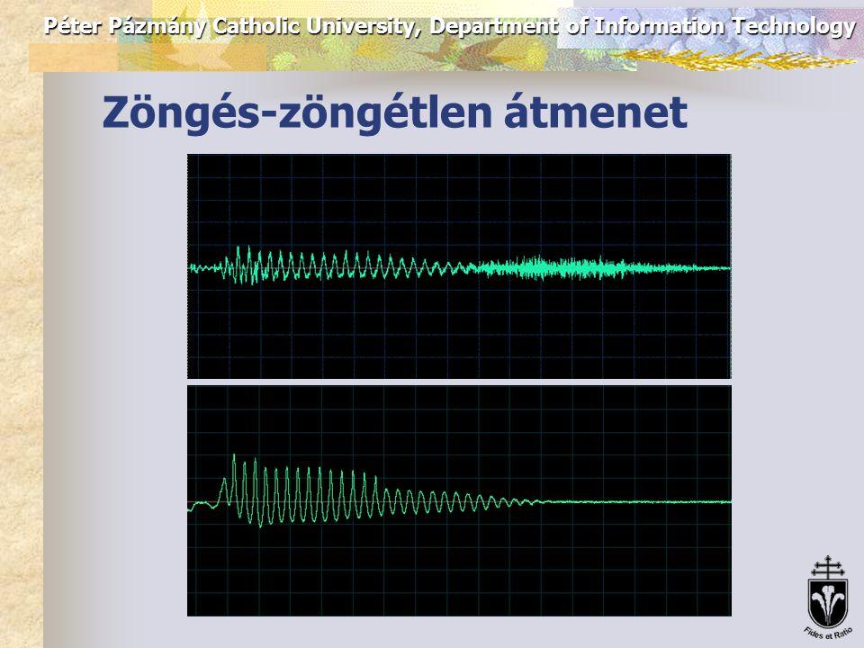 Péter Pázmány Catholic University, Department of Information Technology Beszédfelvétel és laryngográf jel