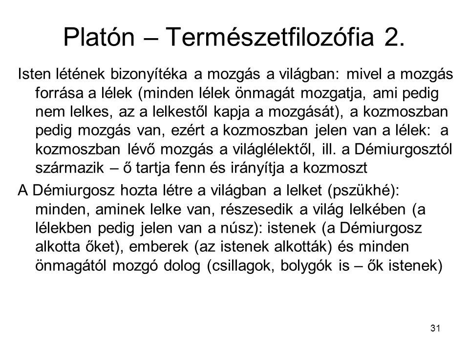 31 Platón – Természetfilozófia 2.