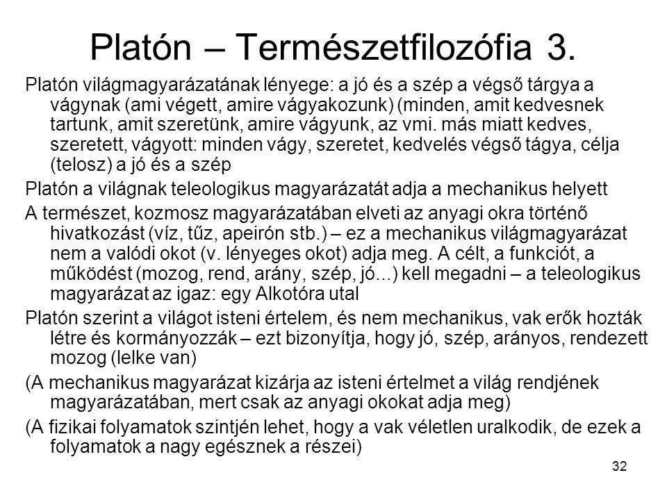 32 Platón – Természetfilozófia 3.