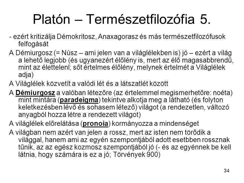 34 Platón – Természetfilozófia 5.