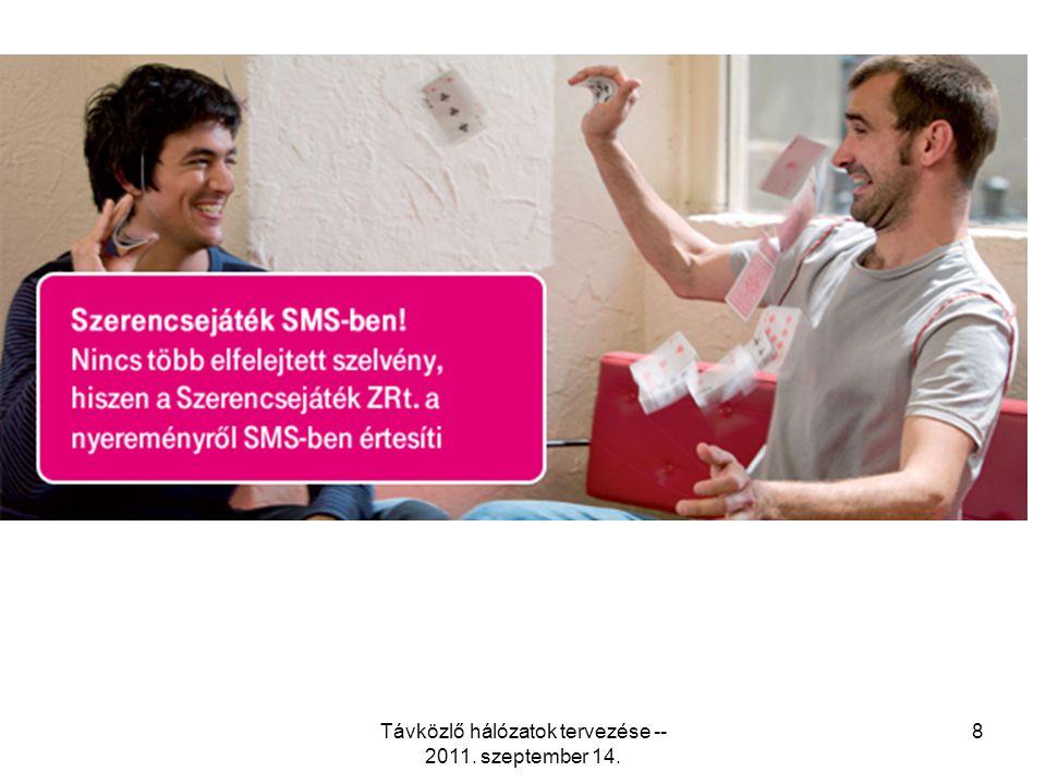 Távközlő hálózatok tervezése -- 2011. szeptember 14. 8