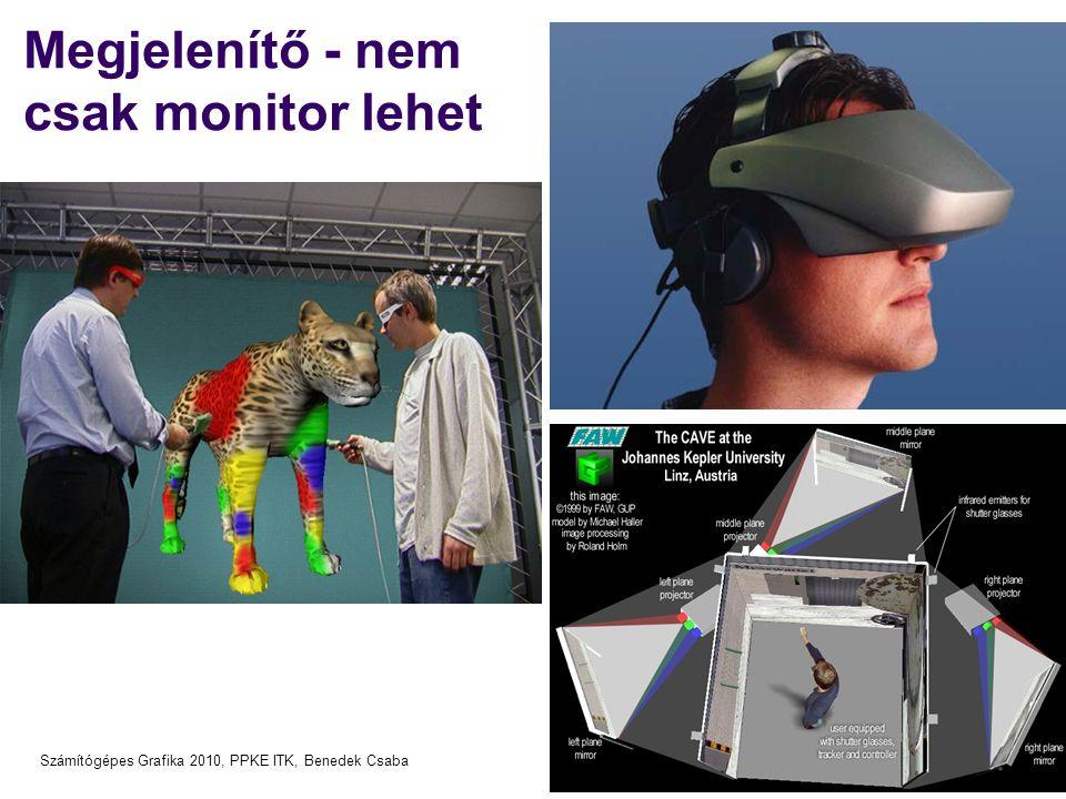 Számítógépes Grafika 2010, PPKE ITK, Benedek Csaba Megjelenítő - nem csak monitor lehet