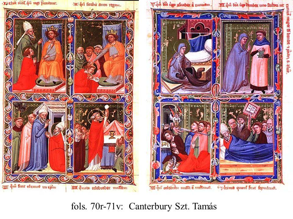 fols. 70r-71v: Canterbury Szt. Tamás