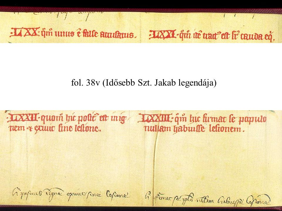 fol. 38v (Idősebb Szt. Jakab legendája)