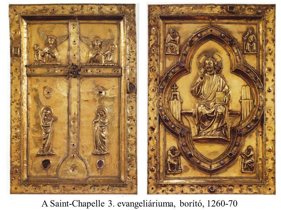 A Saint-Chapelle 3. evangeliáriuma, borító, 1260-70