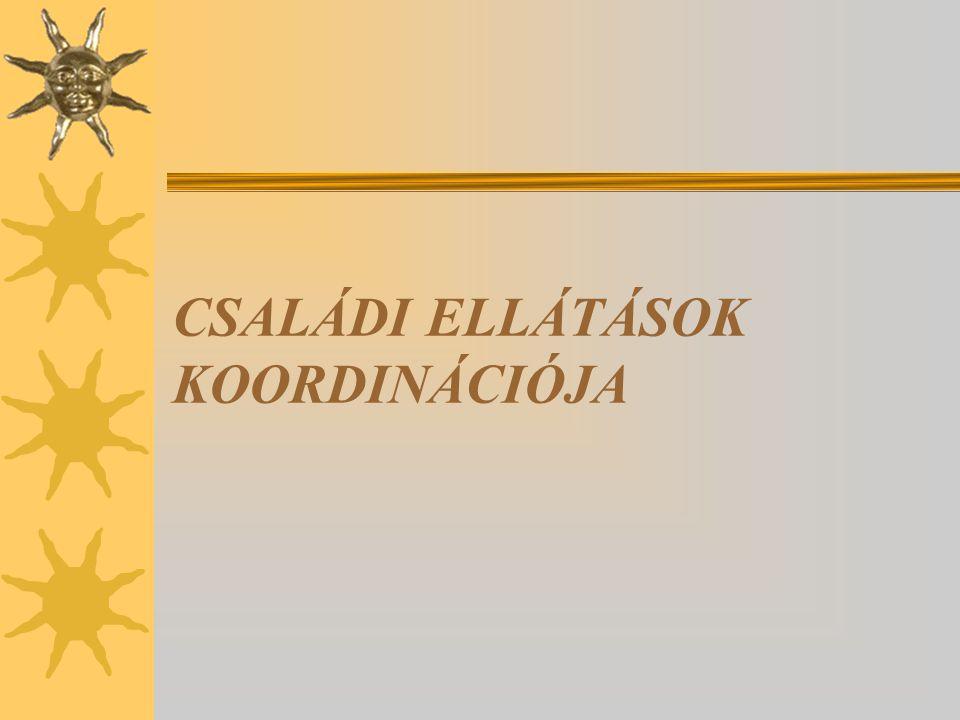CSALÁDI ELLÁTÁSOK KOORDINÁCIÓJA