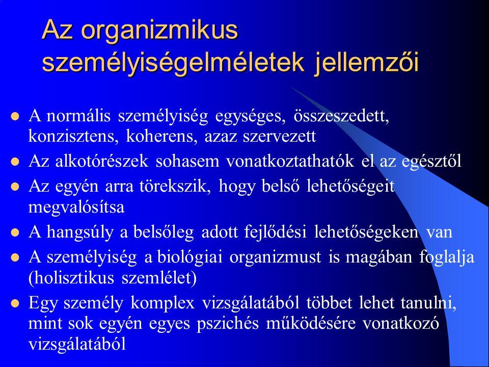 A holisztikus-organizmikus felfogás Angyal András (1902-1960)