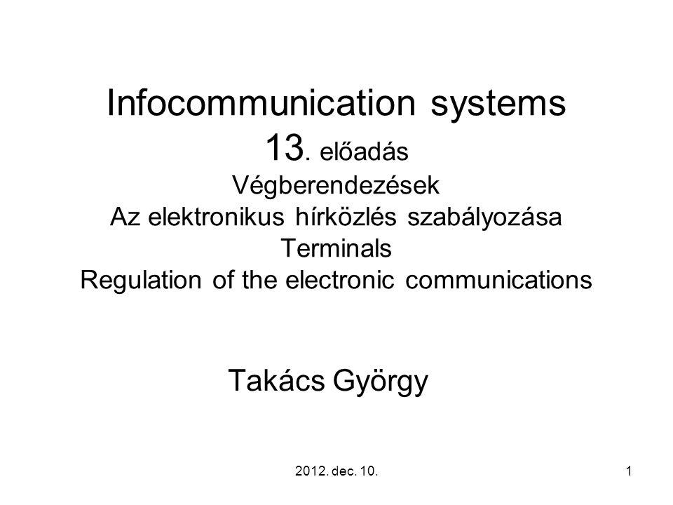 2012.dec. 10.62 Interworking and interoperability elektronikus hírközlõ hálózatok ….