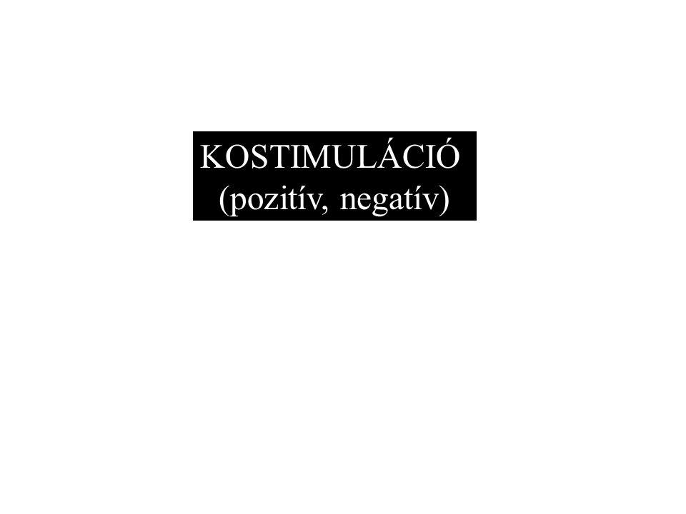 KOSTIMULÁCIÓ (pozitív, negatív)