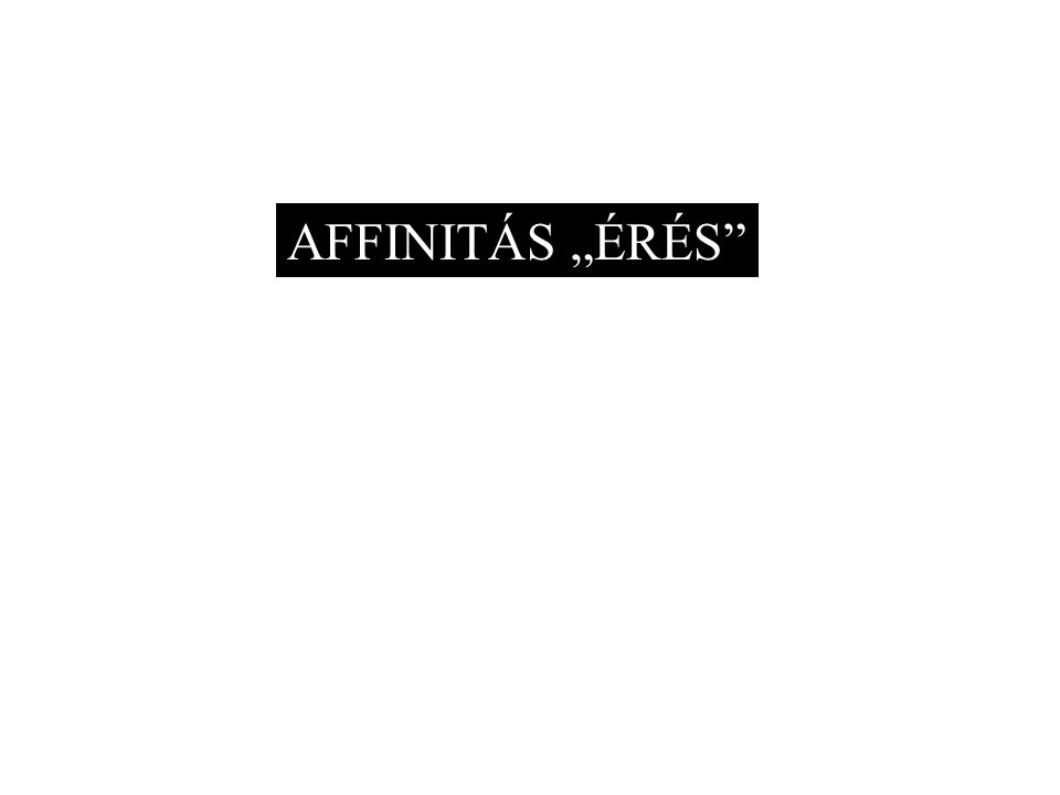 """AFFINITÁS """"ÉRÉS"""