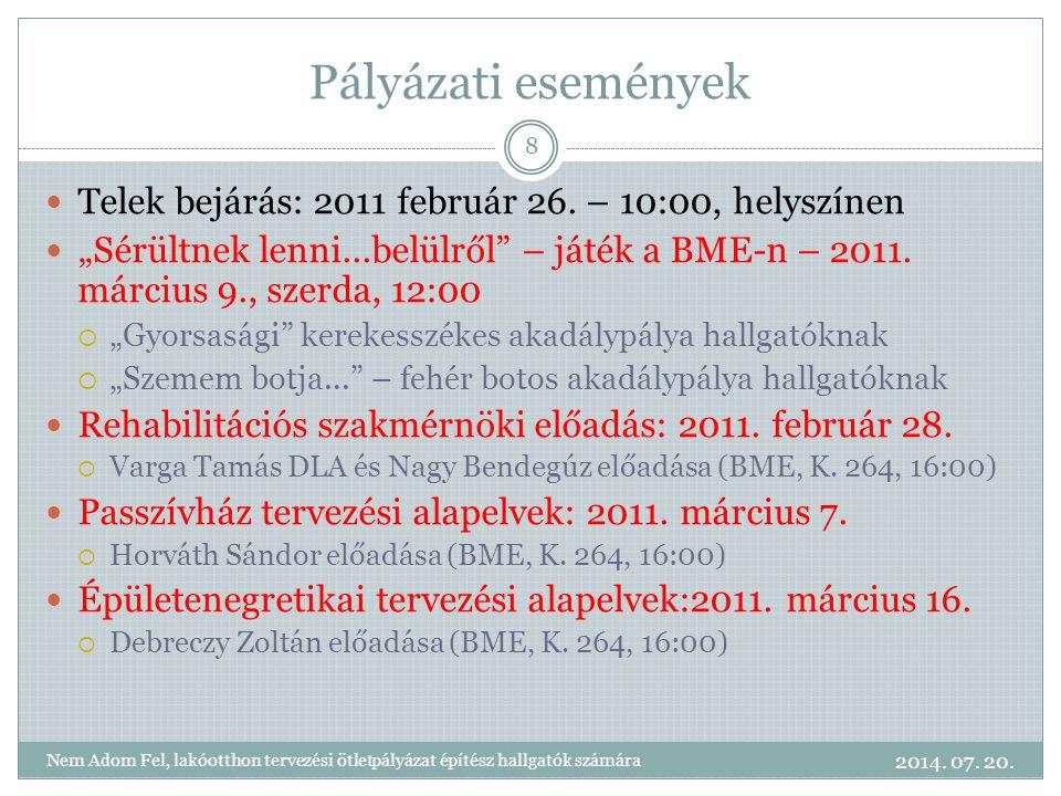 Pályázati események Telek bejárás: 2011 február 26.