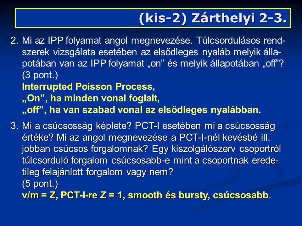 (kis-2) Zárthelyi 2-3. 2.Mi az IPP folyamat angol megnevezése.