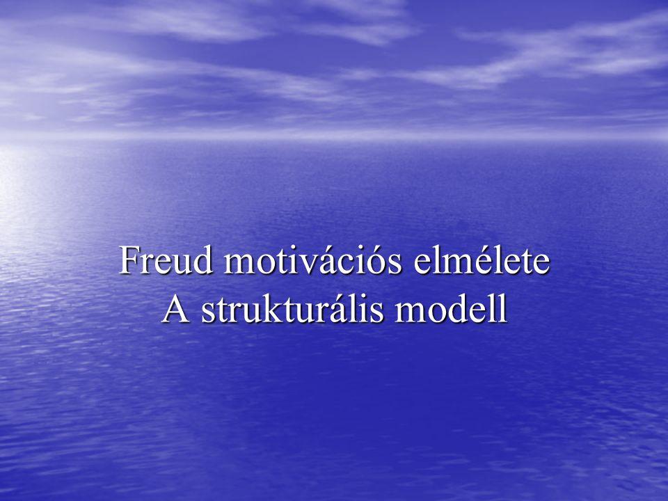 Freud motivációs elmélete A strukturális modell