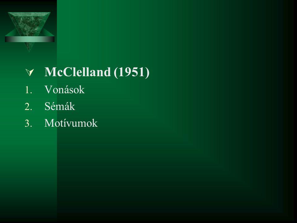  McClelland (1951) 1. Vonások 2. Sémák 3. Motívumok