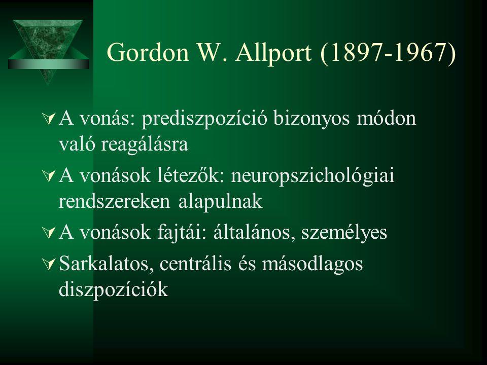 A 16 faktor születésének útja  Allporték listáját szűkítette le, osztályozta, majd az osztályokból (160) kivette a 13 szerinte legfontosabbat.
